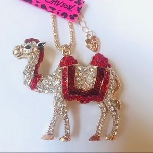 Beautiful Red Crystal Camel Necklace